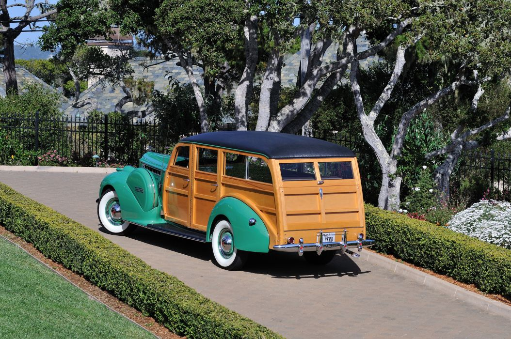 1940 Packard Eight Wagon Wood Classic Old Vintage USA 4288x2848-3 wallpaper