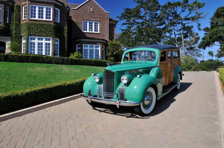 1940 Packard Eight Wagon Wood Classic Old Vintage USA 4288x2848-08 wallpaper