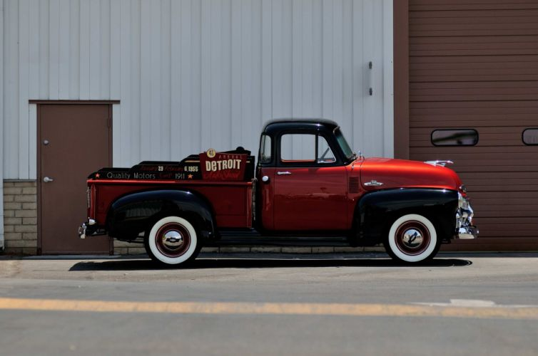 1954 Chevrole 3100 Pickup Classic Old Vintage USA 4288x2848-03 wallpaper