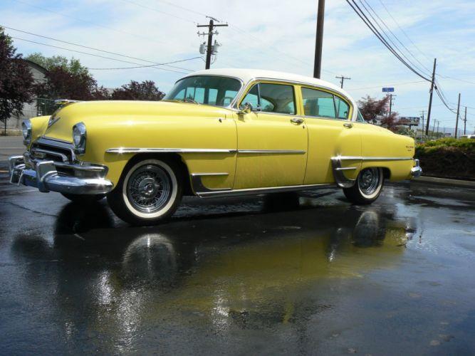 1954 Chrysler New Yorker Sedan Classic Old Retro Yellow USA 2048x1530-03 wallpaper