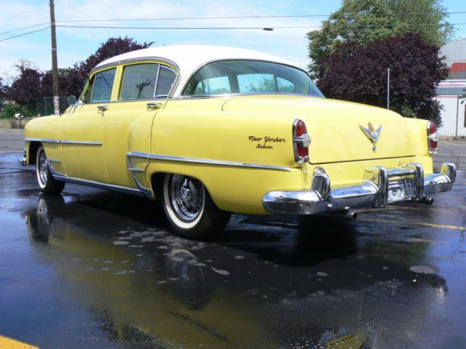 1954 Chrysler New Yorker Sedan Classic Old Retro Yellow USA 2048x1530-05 wallpaper