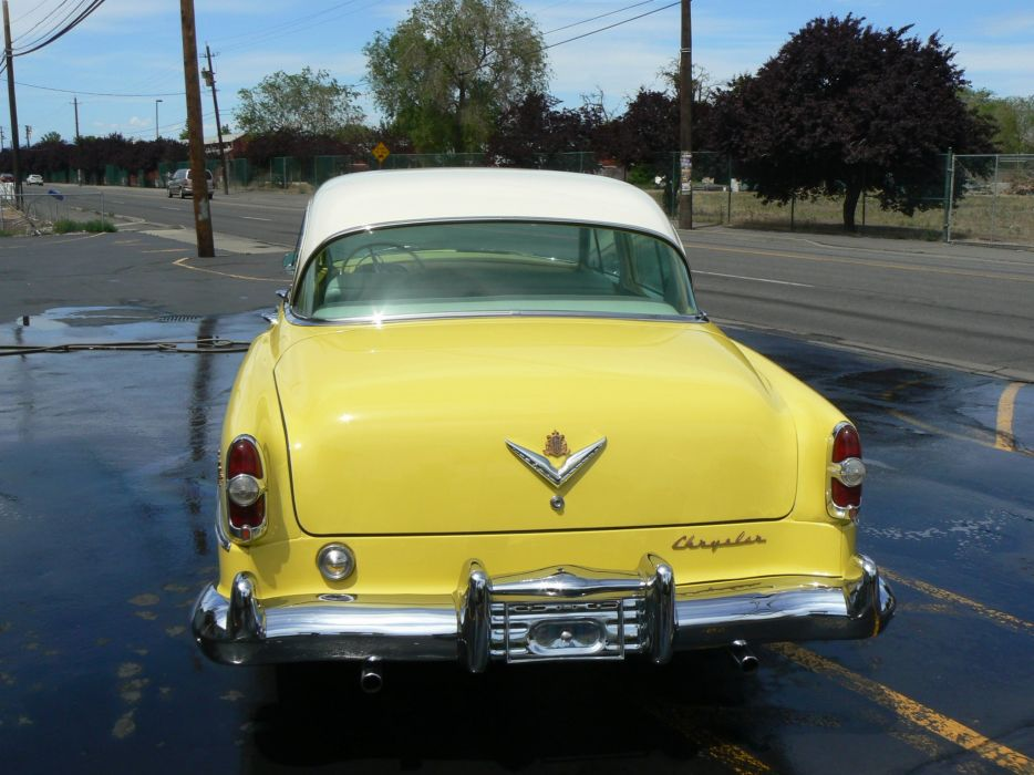 1954 Chrysler New Yorker Sedan Classic Old Retro Yellow USA 2048x1530-04 wallpaper