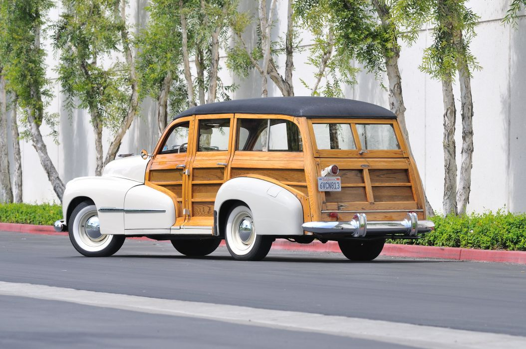 1947 Oldsmobile Woody Wagon Classic Old Vintage USA 4288x2848-03 wallpaper