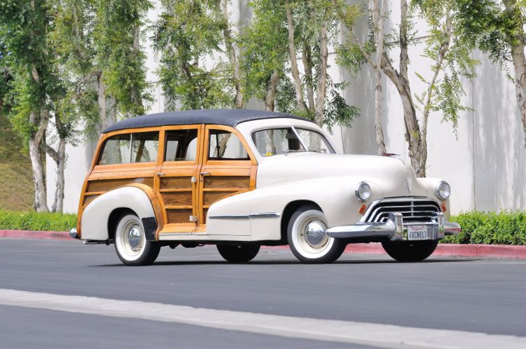 1947 Oldsmobile Woody Wagon Classic Old Vintage USA 4288x2848-01 wallpaper