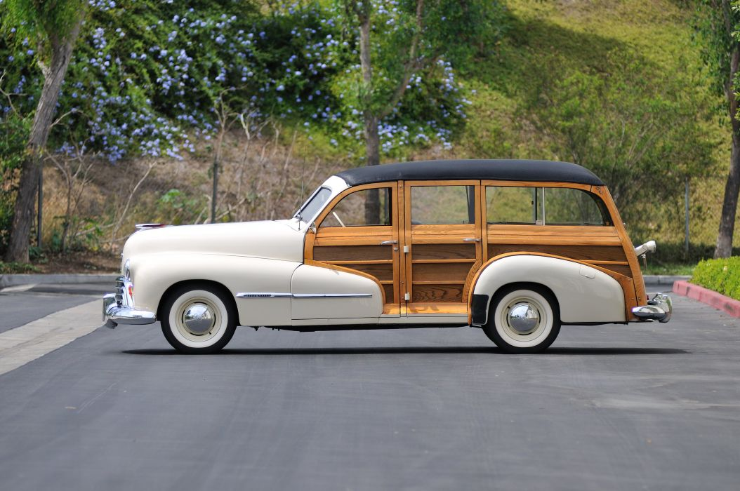 1947 Oldsmobile Woody Wagon Classic Old Vintage USA 4288x2848-02 wallpaper