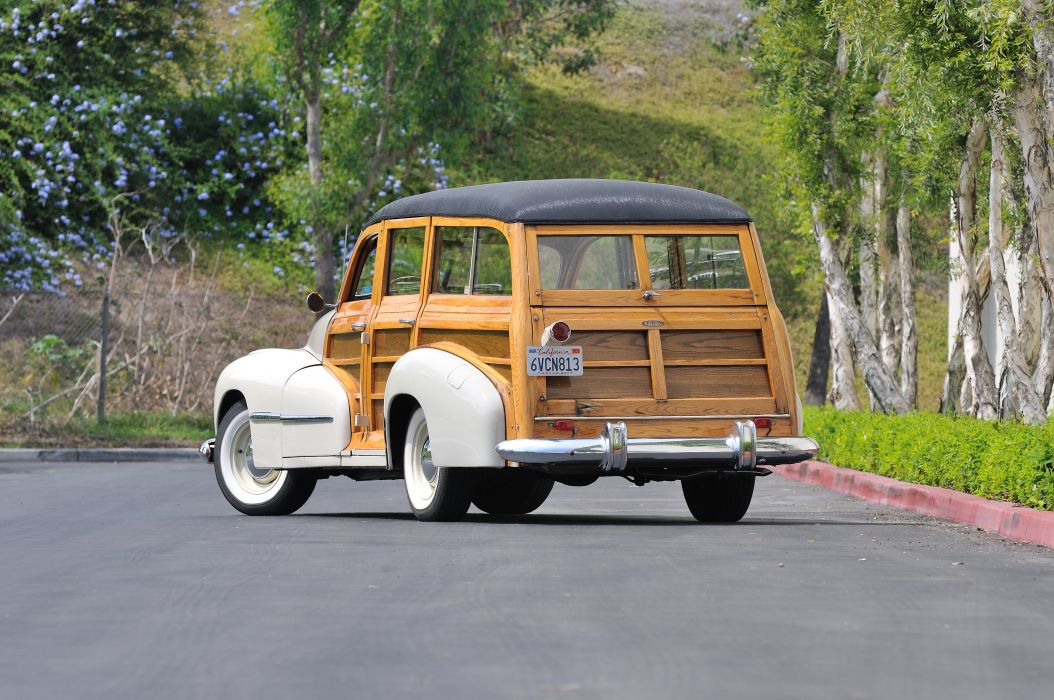 1947 Oldsmobile Woody Wagon Classic Old Vintage USA 4288x2848-05 wallpaper
