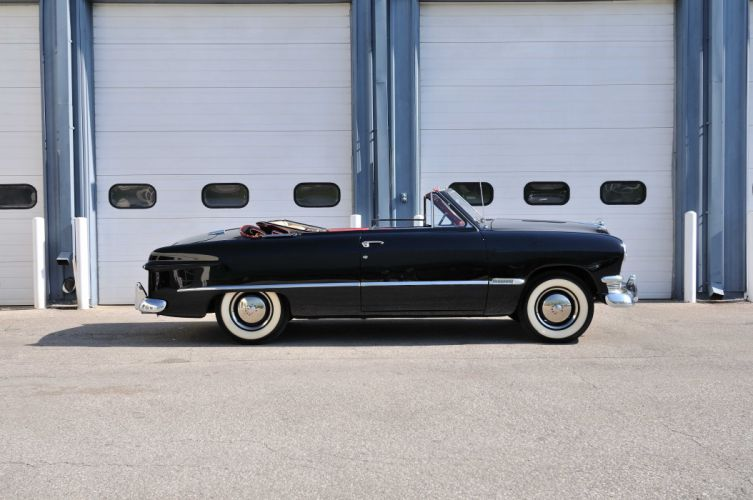 1950 Ford Custom Convertible Black Classic Old Vintage USA 4288x2848-03 wallpaper