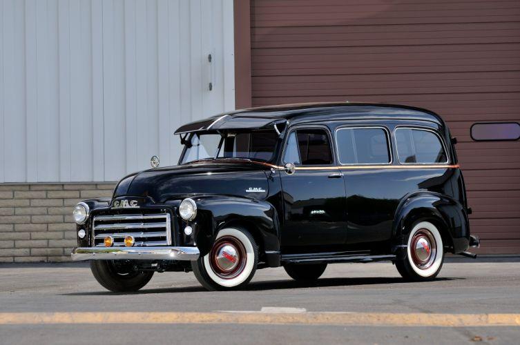 1952 GMC Wagon 2 Door Black Classic Old Vintage USA 4288x2848-02 wallpaper