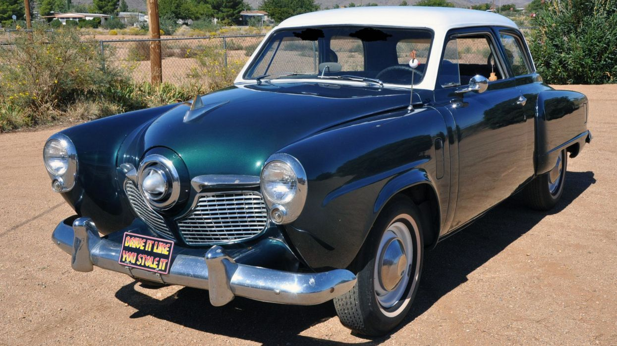 1951 Studebaker Champion Sedan 2 Door Classic Old Retro Vintage USA 8000x4500-011 wallpaper