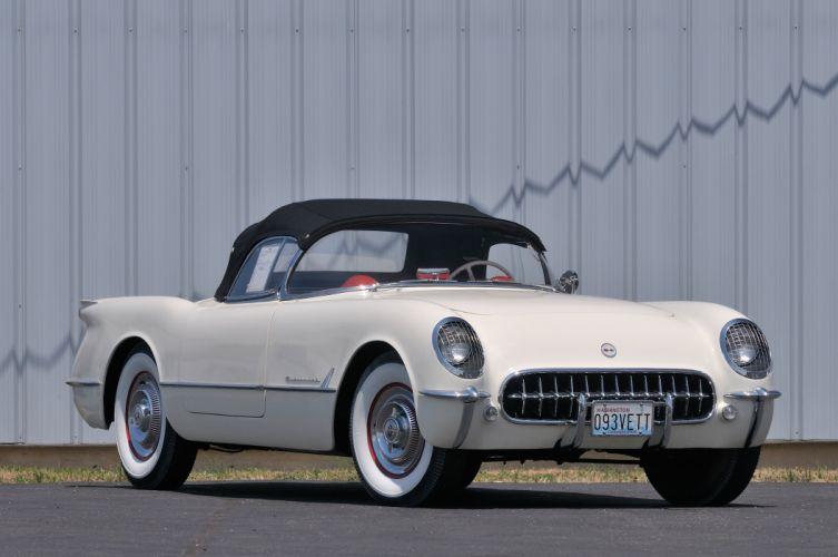 1953 Chevrolet Corvette Convertible Classic Old Vintave USA 4288x2848-01 wallpaper