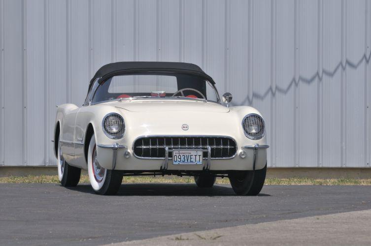 1953 Chevrolet Corvette Convertible Classic Old Vintave USA 4288x2848-04 wallpaper