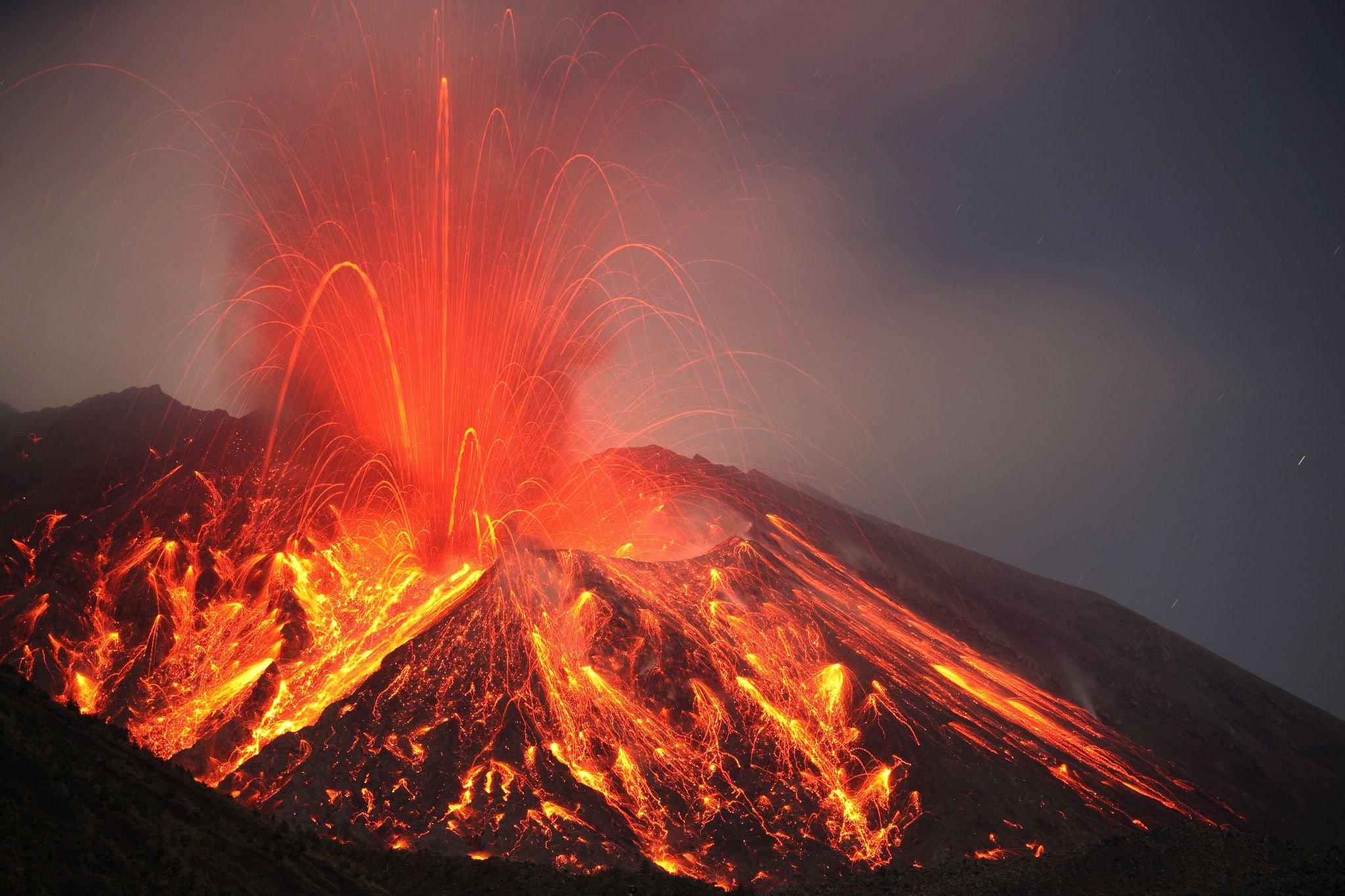 lava mountain volcano -#main