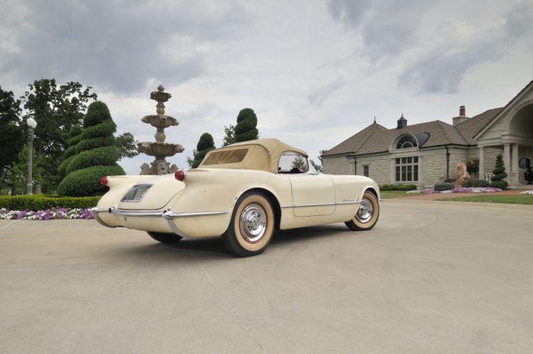 1954 Corvette Roadster Classic Old Retro White USA 4200x2790-06 wallpaper