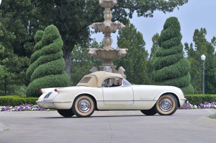 1954 Corvette Roadster Classic Old Retro White USA 4200x2790-03 wallpaper
