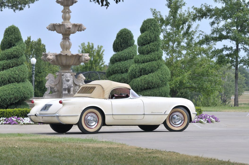 1954 Corvette Roadster Classic Old Retro White USA 4200x2790-07 wallpaper