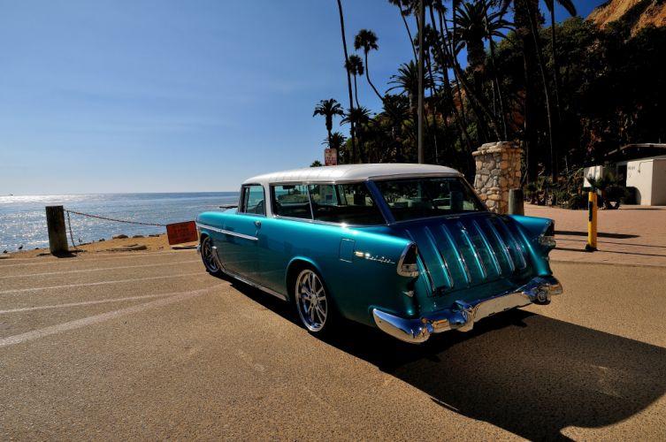 1955 Chevrolet Chevy Nomad Streetrod Street Rod Hot Blue USA-4200x2790-03 wallpaper