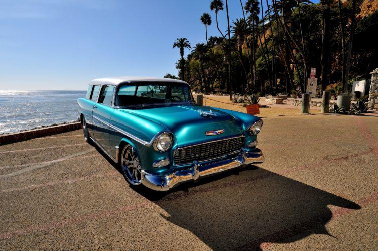 1955 Chevrolet Chevy Nomad Streetrod Street Rod Hot Blue USA-4200x2790-05 wallpaper