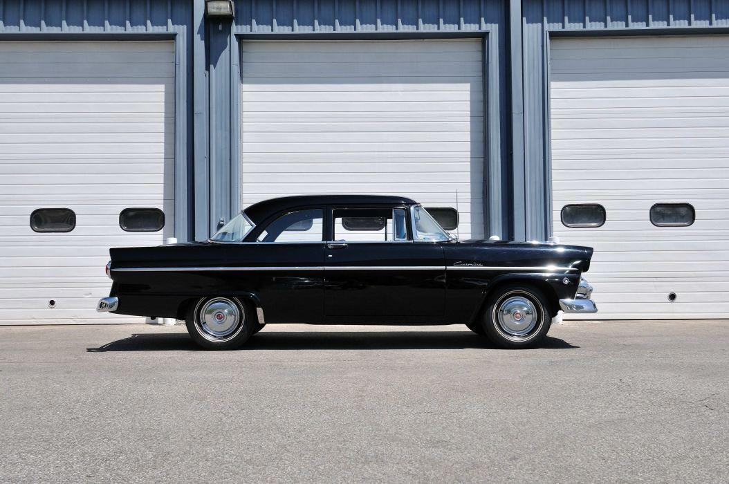 1955 Ford Customline Sedan 2 Door Black Classic Old Vintage USA 4288x2848-02 wallpaper