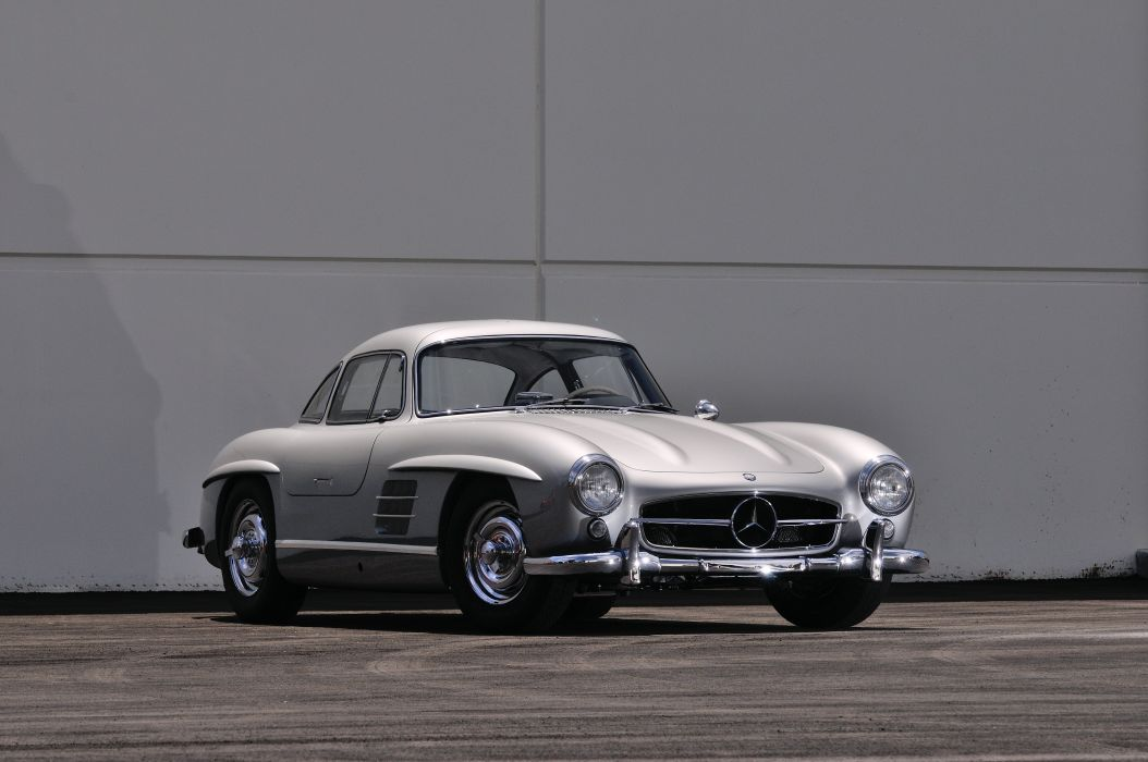 1955 Mercedes Benz 300SL Gullwing Sport Classic Old Vintage Germany 4288x28480 01 Wallpaper