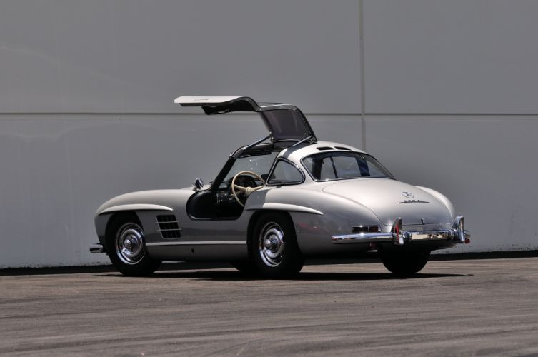 1955 Mercedes Benz 300SL Gullwing Sport Classic Old Vintage Germany 4288x28480-03 wallpaper