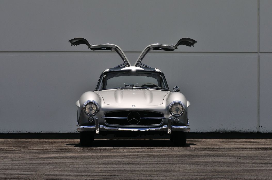 1955 Mercedes Benz 300SL Gullwing Sport Classic Old Vintage Germany 4288x28480-04 wallpaper