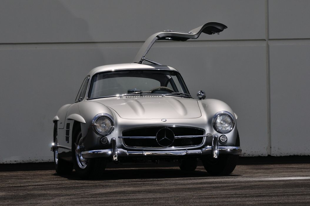 1955 Mercedes Benz 300SL Gullwing Sport Classic Old Vintage Germany 4288x28480-06 wallpaper
