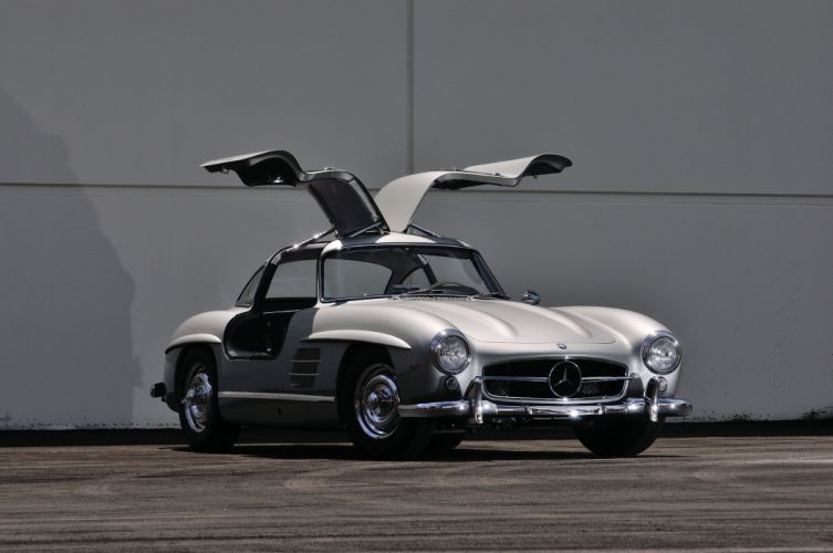 1955 Mercedes Benz 300SL Gullwing Sport Classic Old Vintage Germany 4288x28480-07 wallpaper