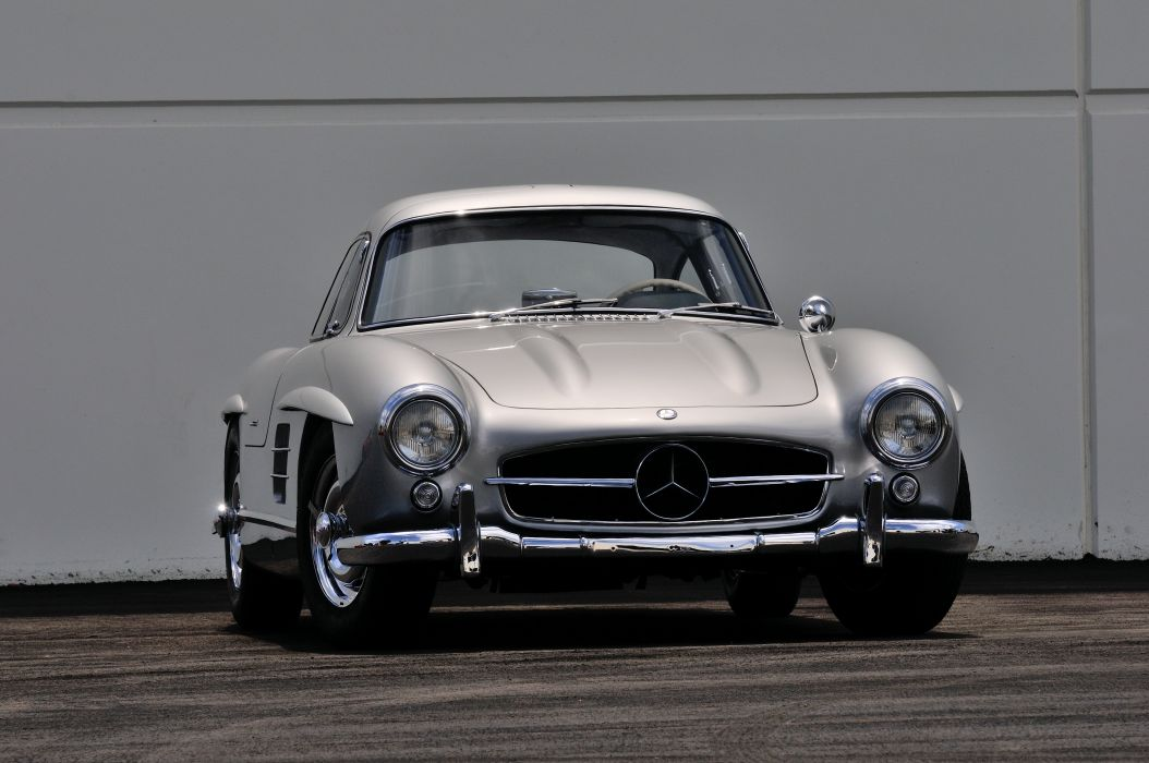 1955 Mercedes Benz 300SL Gullwing Sport Classic Old Vintage Germany 4288x28480-08 wallpaper