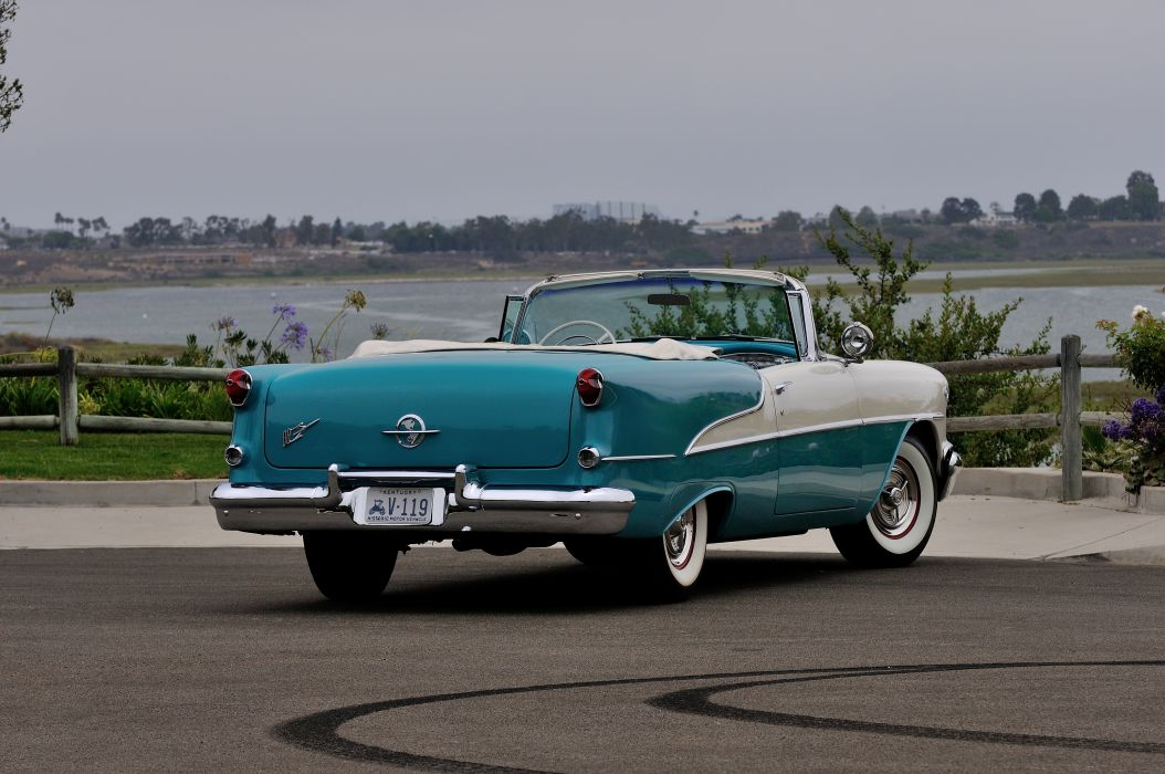 1955 Oldsmobile Rocket 88 Convertible Classic Old Vintage USA 4288x2848-03 wallpaper