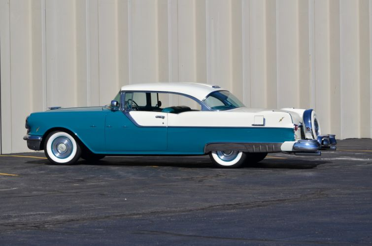 1955 Pontiac Star Cheif Super Eight Coupe Blue Classic OLd Retro USA 4200x2780-03 wallpaper