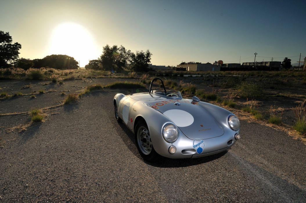 1955 Porsche Spyder Race car Silver Classic Old Retro 4200x2790-10 wallpaper