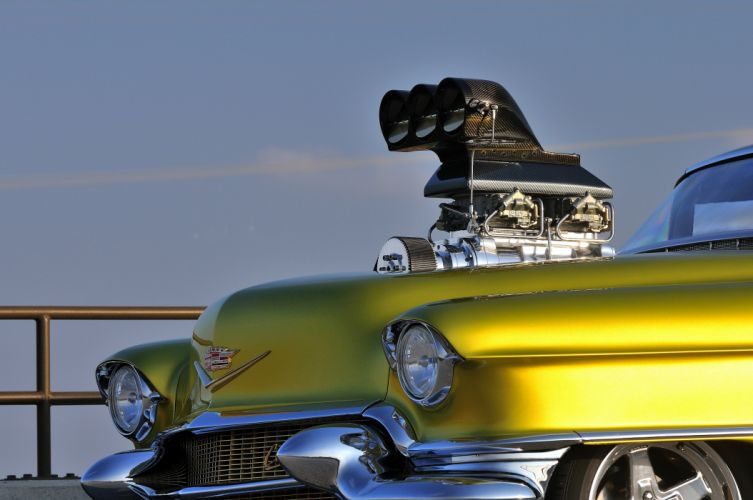 1956 Cadillac Coupe Deville Streetdrag Street Drag Blower yellow USA 4200x2790-06 wallpaper