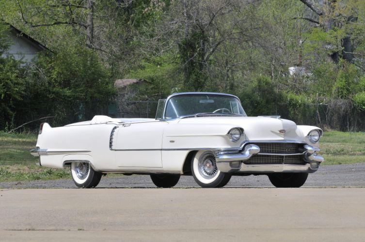 1956 Cadillac Deville Convertible White Classic Old Retro USA 4200x2790-01 wallpaper