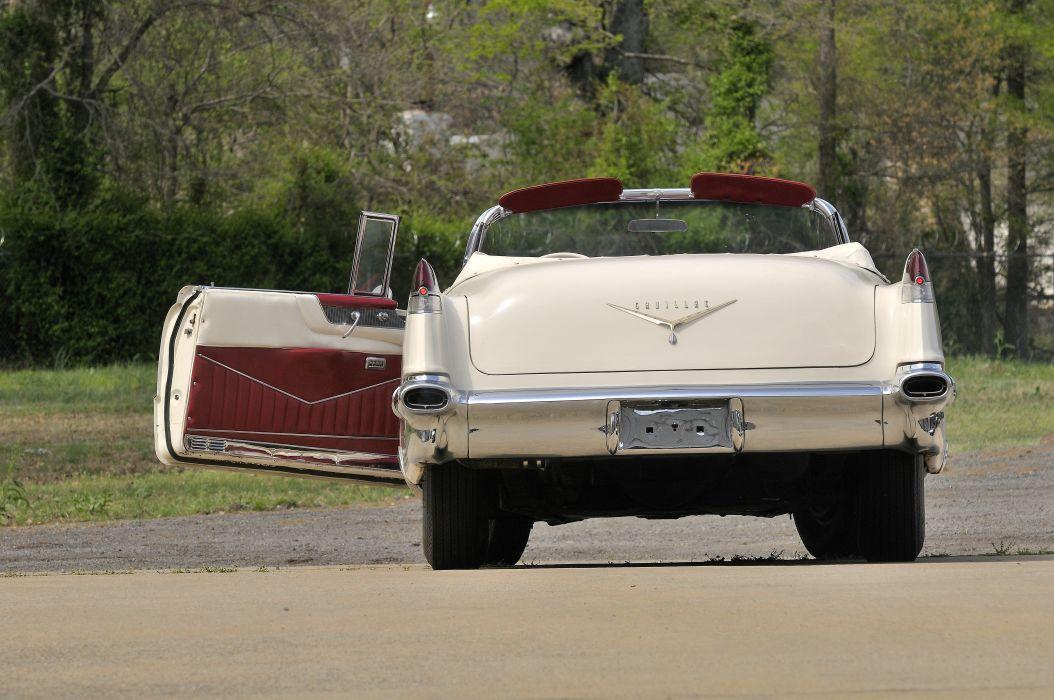 1956 Cadillac Deville Convertible White Classic Old Retro USA 4200x2790-03 wallpaper