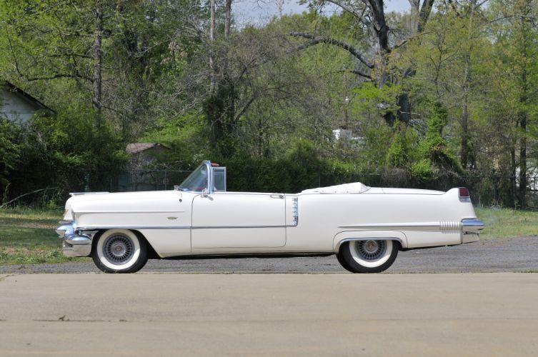 1956 Cadillac Deville Convertible White Classic Old Retro USA 4200x2790-02 wallpaper