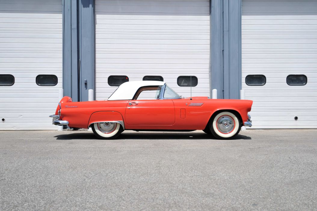 1956 Ford Thunderbird Spot Classic Old Vintage USA 4288x2848-03 wallpaper
