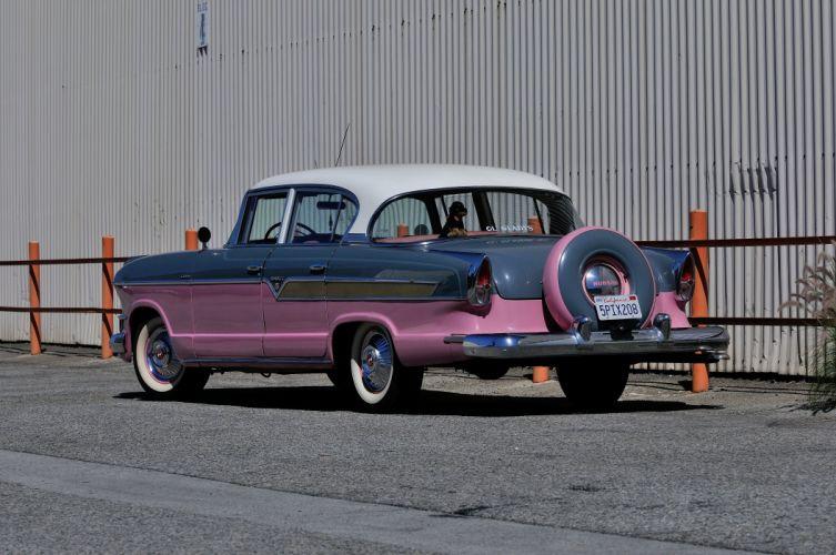 1956 Hudson Hornet Sedan 4 Door Classic Old Vintage USA 4288x2848-03 wallpaper