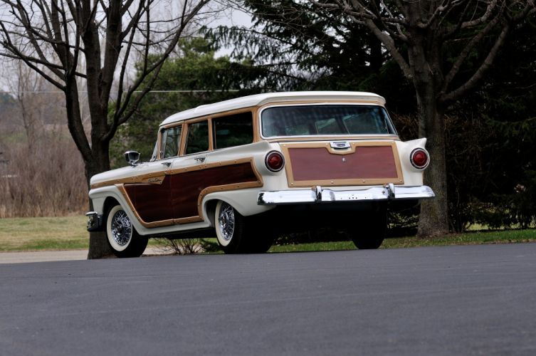 1957 Ford Country Squire Wagon 4 Door White USA 3288x2848-03 wallpaper