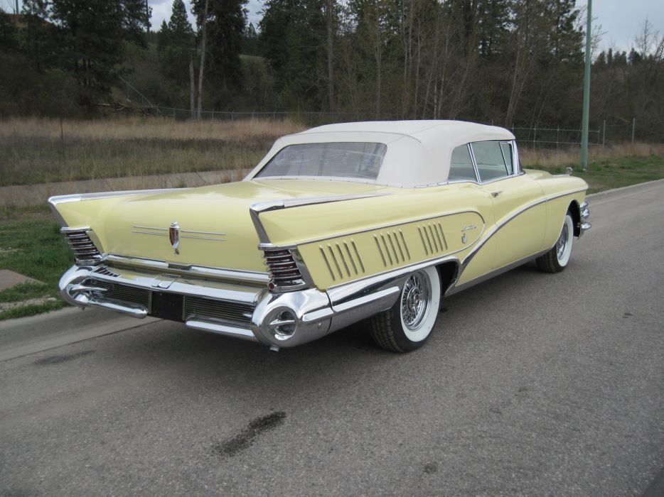 1958 Buick Convertible Limited Classic Old USA 4000x3000-03 wallpaper