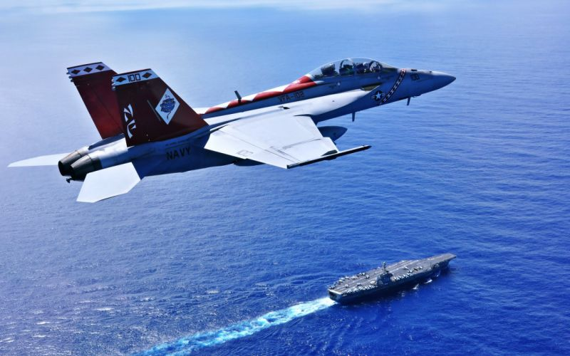 fa18f uss george washington ammunition army Drills landscapes Maneuver Military nature sea watercraft Aircrafts ware destroyer frigate blue ocean wallpaper