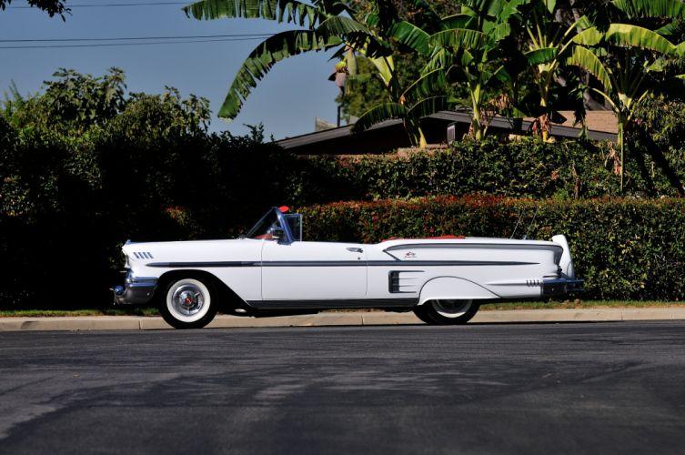 1958 Chevrolet Imapala Convertible White Classic Old USA 4288x2848-02 wallpaper