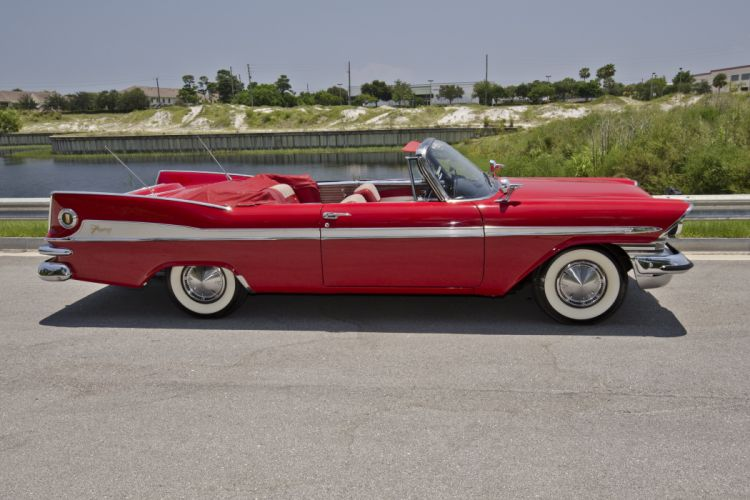 1959 Plymouth Sport Fury Convertible Classic Red USA Retro Old USA 4200x2800-05 wallpaper