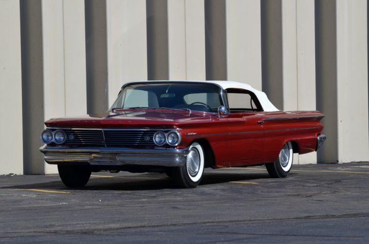 1960 Pontiac Catalina Convertible Red Classic Old Retro USA 4200x2780-01 wallpaper