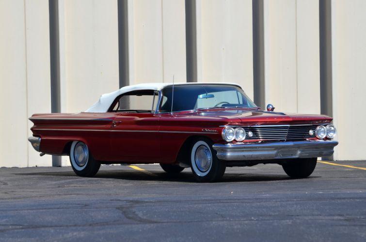 1960 Pontiac Catalina Convertible Red Classic Old Retro USA 4200x2780-03 wallpaper