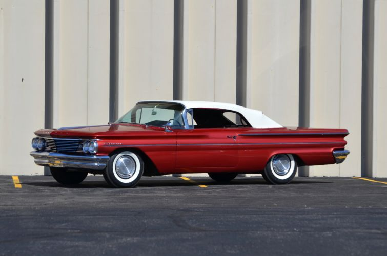 1960 Pontiac Catalina Convertible Red Classic Old Retro USA 4200x2780-02 wallpaper