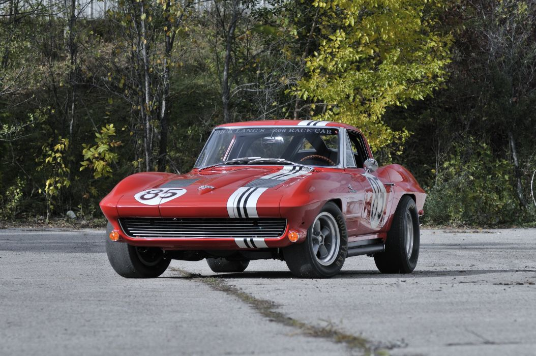 1963 Corvette Z06 Race Car Red Classic Old USA 4288x2848-01 wallpaper