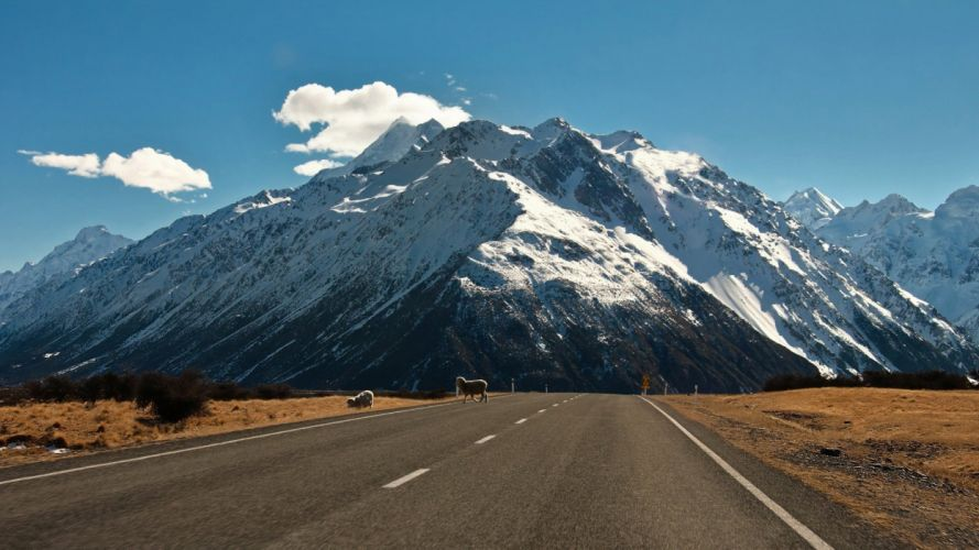 mountains landscape nature mountain road wallpaper
