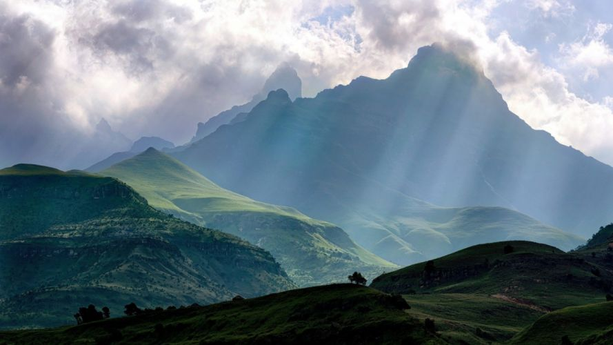mountains landscape nature mountain clouds wallpaper