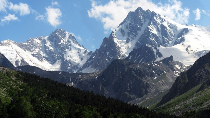 mountains landscape nature mountain snow wallpaper
