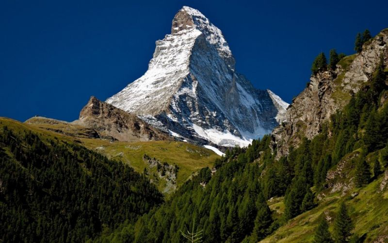 mountains landscape nature mountain forest wallpaper